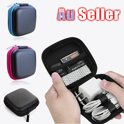 Portable Carrying Pouch Earphone SD Card Storage Case Bag Headphone Earbud