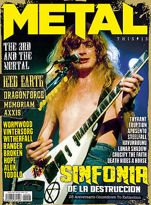 This is Metal Magazine Spain Issue 20 - Megadeth Dave Mustaine Iced Earth Axxis