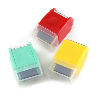 1Pcs Guard Your ID SelfInking Roller Stamp Stamp Messy Code Security Office