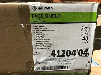 New Halyard Full Length Face Shield Clear 41204 - Case of 40
