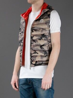 80e4f37ff AUTHENTIC MONCLER CAMOUFLAGE Patrick Gilet Jacket Body Warmer Vest ...