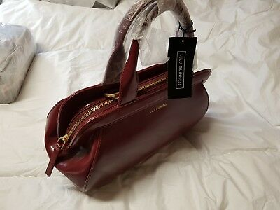 e03cb48e2f Lulu Guinness Garnet Red Mid Paula leather bag.New with tags.