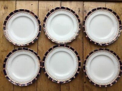 William Hudson Sutherland Art China Set 6 Side Plates Vintage Retro Afteroon Tea