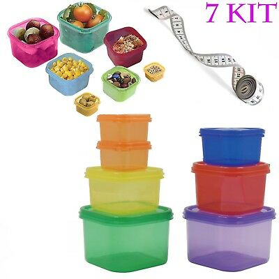 21 Day Portion Diet Control Containers Fix Weight Loss Guide Food Plan Full Set