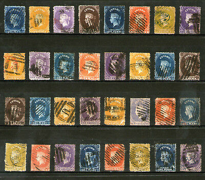 Ceylon - Queen Victoria Classic Stamp Collection - Fine Used, British Currency