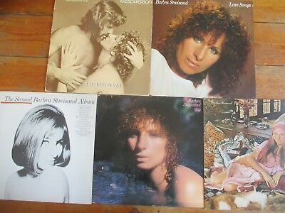 Barbra Streisand Job Lot 5X Lps Love Songs Star Is Born Wet Lazy Afternoon Ex