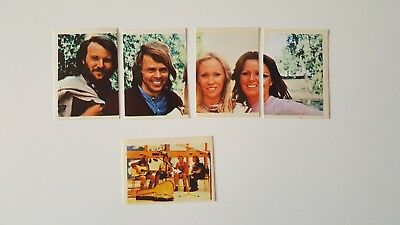 Abba x5 small stickers Nos 50-54 - Pop Festival series