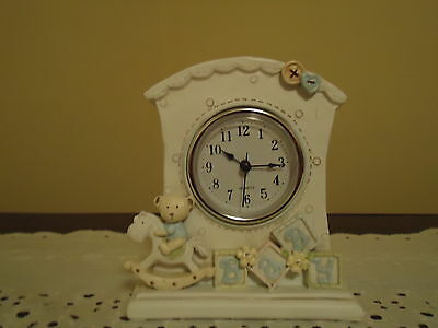 Lenox Baby Blue Bear Clock Great For A Shower Gift (New In Box)