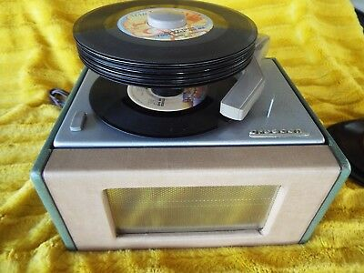 Rca Record Player Crescent 452-A Tube Amp New Cartridge Restored Watch It Play