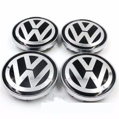 4pcs 60mm VW Wheel Rim Center Cap Beetle CC Caddy EOS Golf Jetta Passat Phaeton