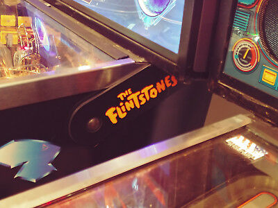 The Flintstones Pinball Lighted Magnetic Hinge Covers mod-Orange-Limited Edition