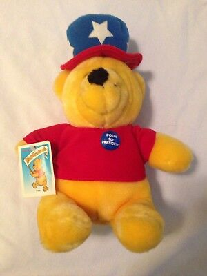 Rare Winnie The Pooh For President 1970's Disney Sears Plush Bear Poohfessionals