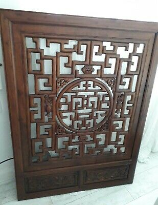 Chinese Antique Style Hand Carved Wall Hanging Plaque Carving Large-Beautiful
