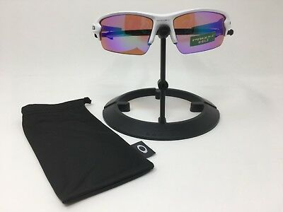 7ad1bcbb37 Oakley Flak 2.0 Prizm Golf Lens Polished White Frame Sunglasses OO9295-06