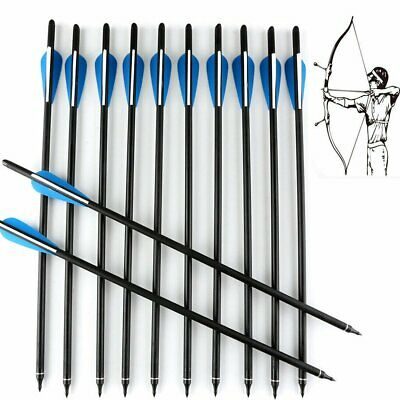 "12Pcs Carbon Arrows 20""/22""Crossbow Bolts For Crossbow Hunting Archery Hunter"