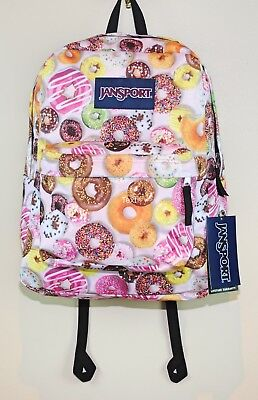 JanSport SuperBreak School Laptop Backpack BooK Bag Multi Donuts New with  Tags 1b856d15f96e4