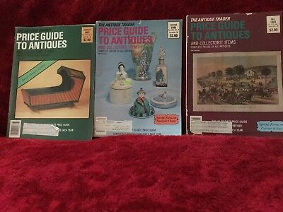 Lot Of 3 THE ANTIQUE TRADER PRICE GUIDE TO ANTIQUES 1983-84