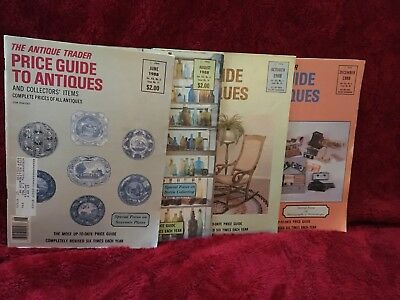 Lot of 4 Antique Trader Price Guide to Antiques 1988