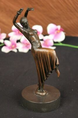Bronze Sculpture of Egyptian Dancer, after Chiparus. Lost Wax Method Figurine