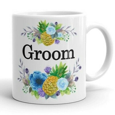 Groom Mug - Cute Engagement Gift from Bride Wedding Pineapple Coffee Cup for Him