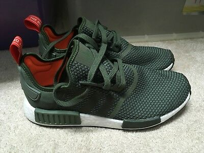 size 40 5f937 d5ad7 BY9692 Adidas NMD R1 TRACE GREEN OLIVE CARGO WHITE BOOST SHOES NOMAD MENS SZ  9.5