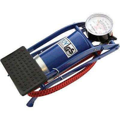 Foot Pump Air Inflator Barrel Cylinder Car Van Bicylce Bike Tyre Single