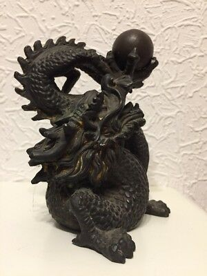 Bronze Drache Patiniert China