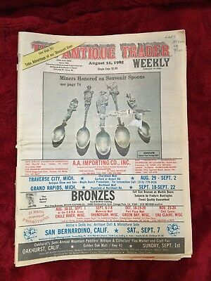 Lot of 17 1985-1988 The Antique Trader Weekly