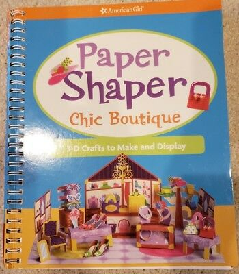 NEW AMERICAN GIRL Paper Shaper Chic Boutique Fun Activity Book 3-D Craft Pop-Up
