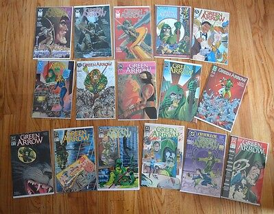 Green Arrow (1988, DC Comics) Lot #1-4, #6-10, #12, #14, #16, 19, 20 Annuals 1,2