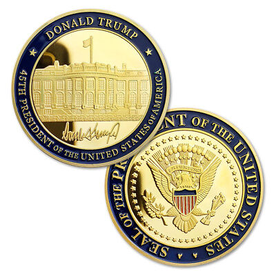 45th President of United States America Donald Trump Inauguration Challenge Coin