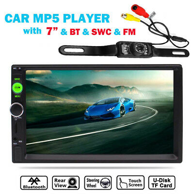 """2DIN 7"""" HD Car Stereo Radio MP5 Player Bluetooth Touch Screen + Rear Camera"""