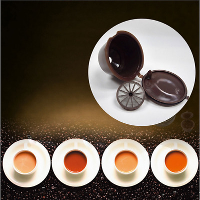 Brown Reusable Refillable Coffee Capsule Pod K-cup For Nescafe Dolce Gusto HOT