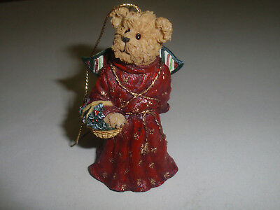 "BOYD'S BEARS, LONGABERGER EXCLUSIVE Ornament, ""CRYSTAL ANGELFROST"". New!!!"