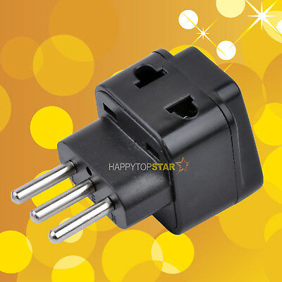 Universal UK/USA/EU/AUS to Italy Travel Wall Power Converter Adapter Type L Plug