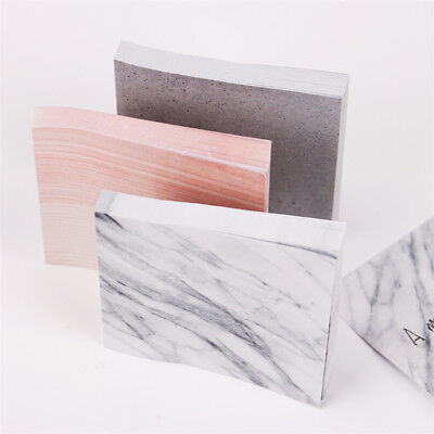 1Pc 75 sheets School Notepad Colorful Marble Self Adhesive Memo Pad Sticky Notes