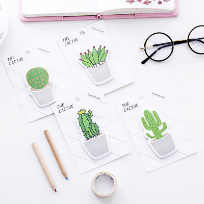 30 pages Novelty Cactus Memo Pad Sticky Note Memo Notebook Stationery Supplies