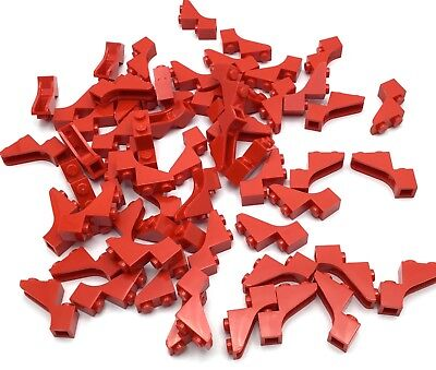 Lego Lot Of 60 New Red Arch Pieces 1 X 3 Dot Mid Size Archway Curved Arcs
