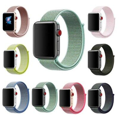 NEW colors Nylon Woven Sport Loop Watch Band Strap For Apple Watch Series 3 2 1