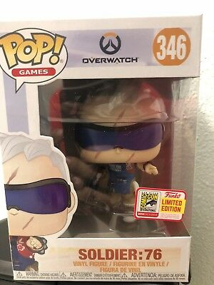 SDCC 2018 Funko Pop! Exclusive Soldier 76 In Hand Limited SDCC Sticker