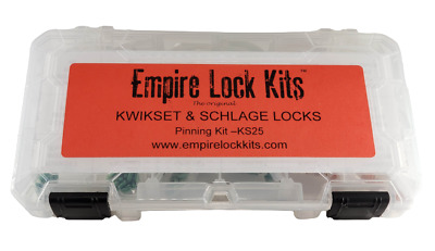 Kwikset And Schlage Rekeying Pinning Kit Bottom And Top Pins With Springs Tools