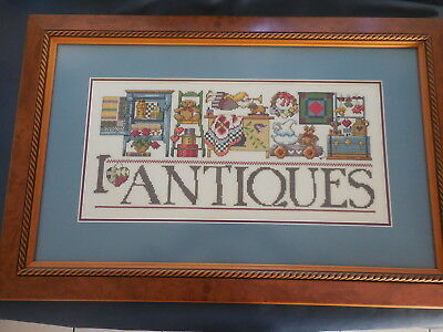 Craft Cross Stitch Picture Antiques Completed And Framed Professionally