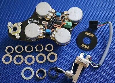 USA Gibson SG Faded Pots Wiring & 3 Way Toggle Solderless Quick Connect Parts