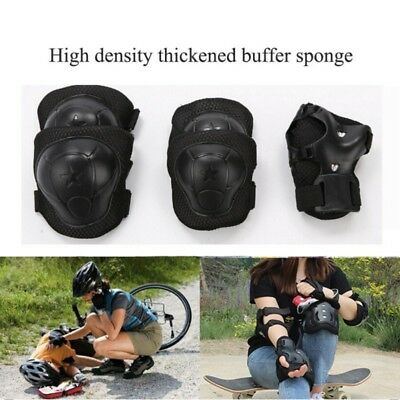 Kids Cycling Roller Skating Knee Elbow Wrist Protector Gear Pad Guard Set New