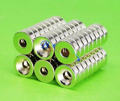 20pcs N50 Strong Round Neodymium Countersunk Ring Magnets 15x4mm Hole 5mm New
