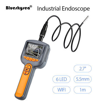 "2.7""LCD Wifi Industrial Endoscope Snake Handheld Inspection Camera with 1M 5.5mm"