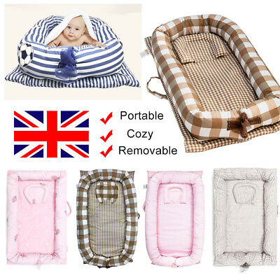 Baby Sleep Nest Cushion Newborn Cocoon Infant Baby Nest Bed with Soft Insert