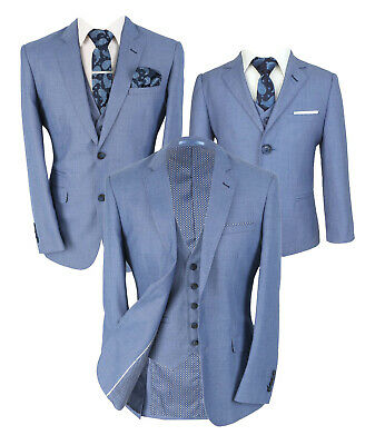 Page Boy Jay Sky Blue Slim Fit Kids Formal Wedding Prom Suits Age 1 to 15 Years