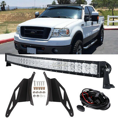 Mounting Brackets For 04-14 Ford F150 7D 52Inch 700W Curved LED Light Bar DRL
