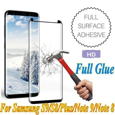 Full Glue Adhesive Tempered Glass For Samsung Galaxy S9/S8/Plus/Note 9/Note 8